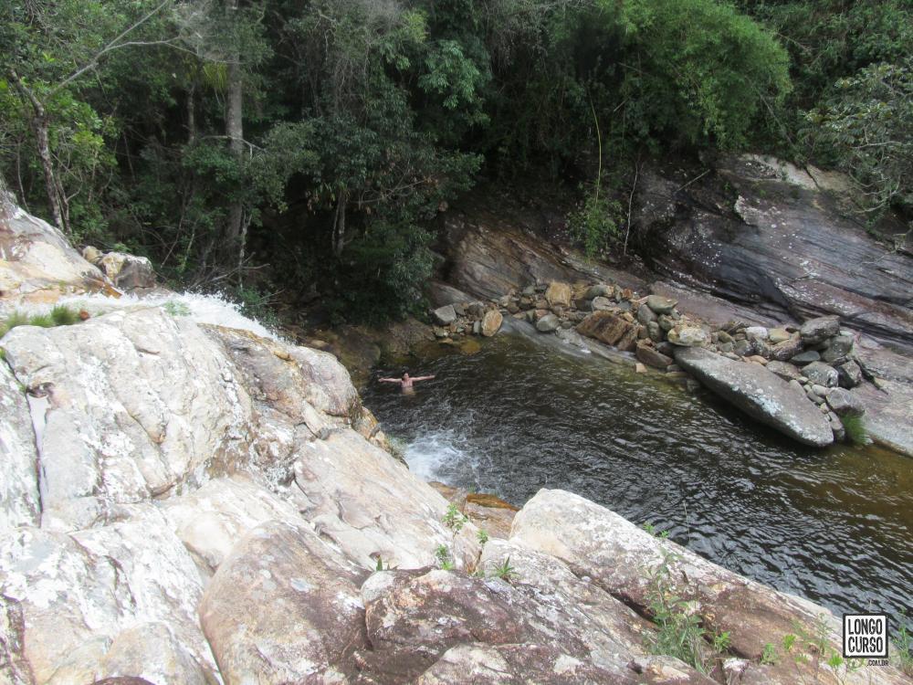 Parte superior da Cachoeira dos Cristais