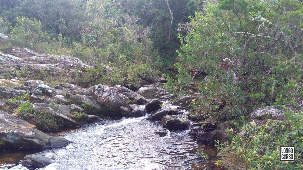 Córrego ao lado do acampamento Casa dos Currais