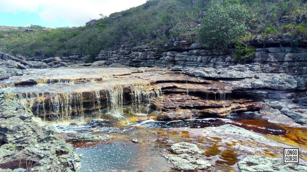 Uma das sete quedas entre a Cachoeira do Funil e a Cachoeira das Andorinhas