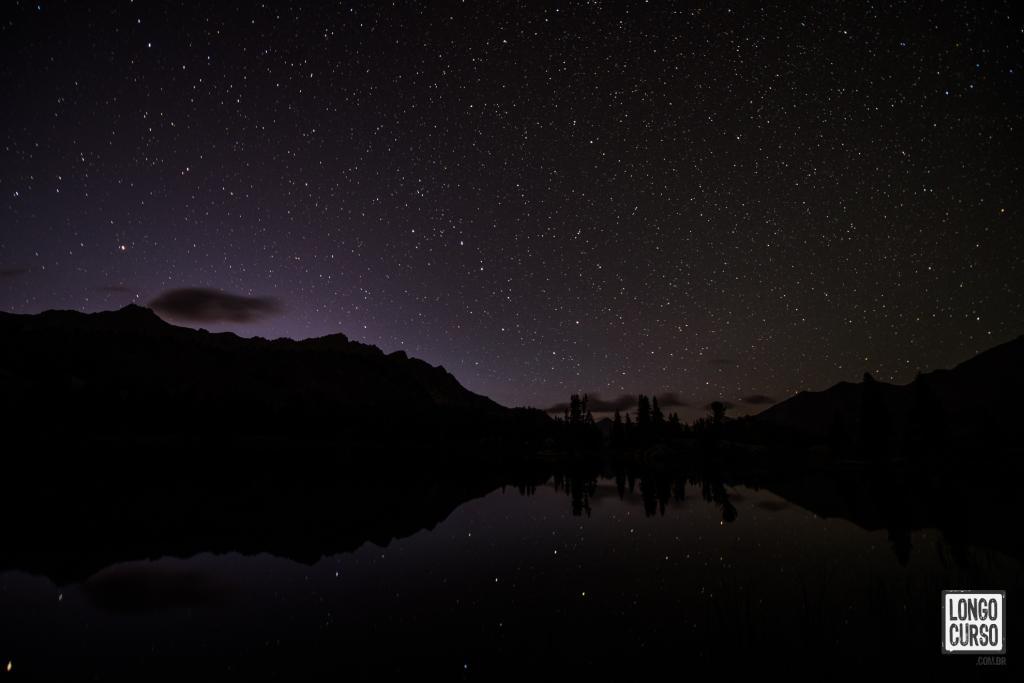 Curtindo a noite estrelada no Arrowhead Lake