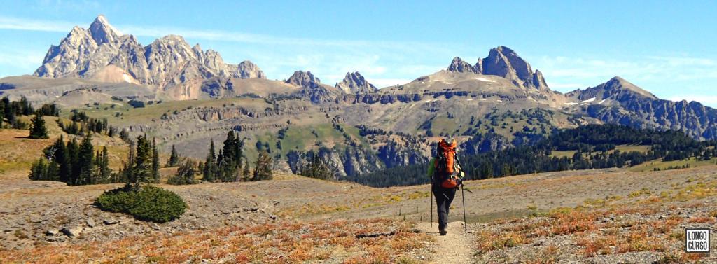 A caminho da Death Canyon Shelf