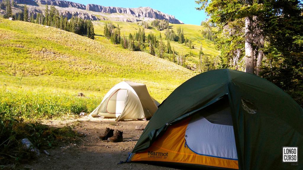 Nosso acampamento no Granite Canyon
