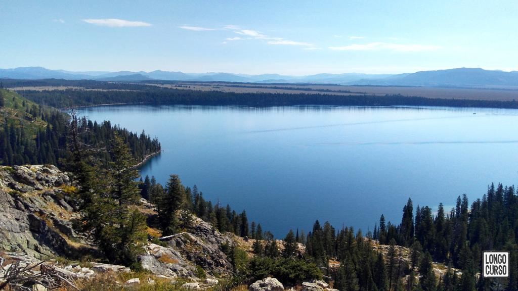 Visual do Jenny Lake a partir do Inspiration Point