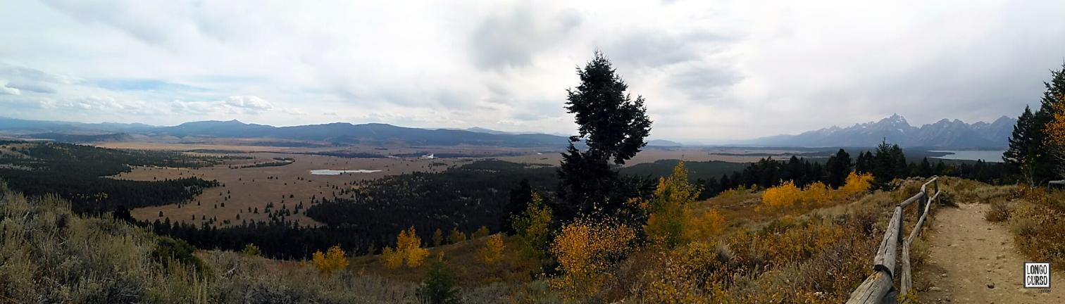 Visual a partir da Signal Mountain, no Grant Teton National Park