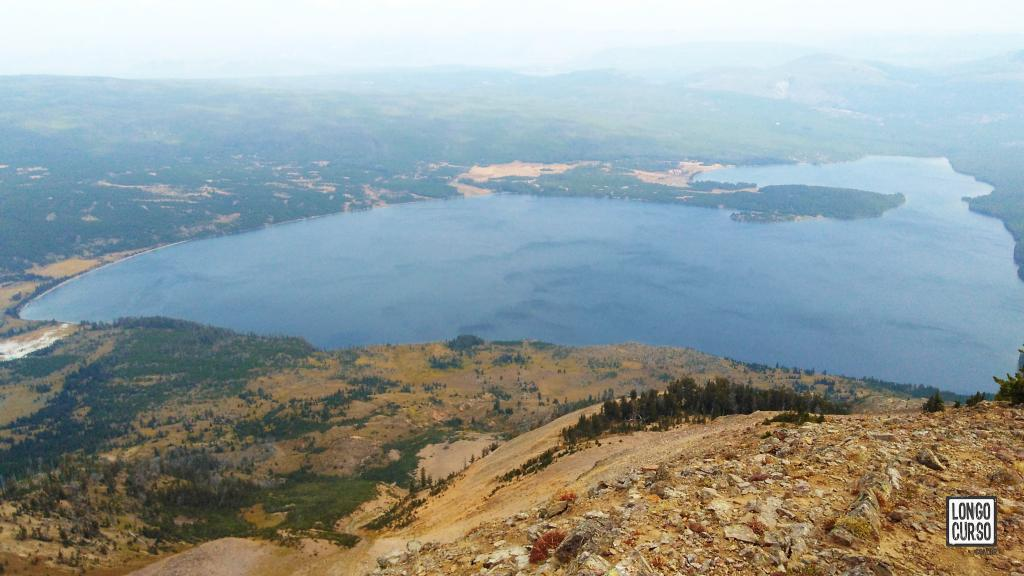 Heart Lake visto do Mount Sheridan