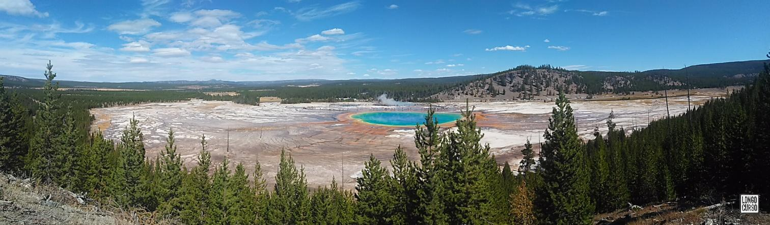 Visual a partir do mirante da Prismatic Spring
