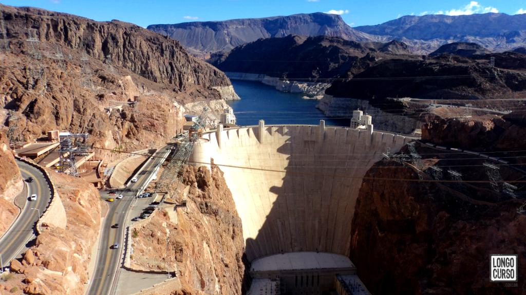 Hoover Dam view from the road