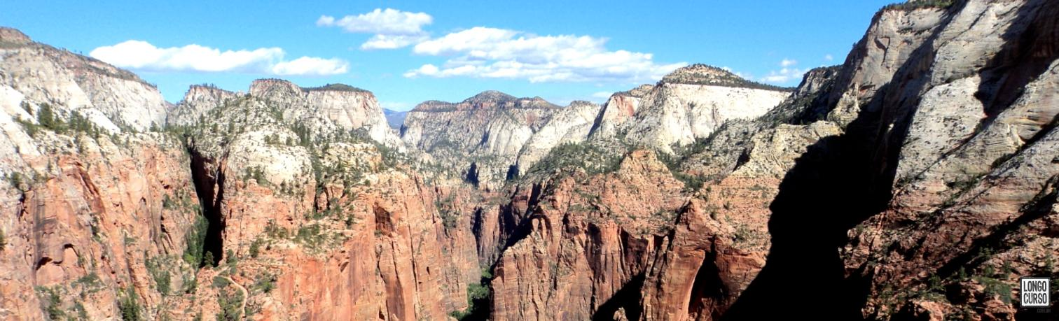 Visual do Zion Canyon a partir do cume da Angel's Landing